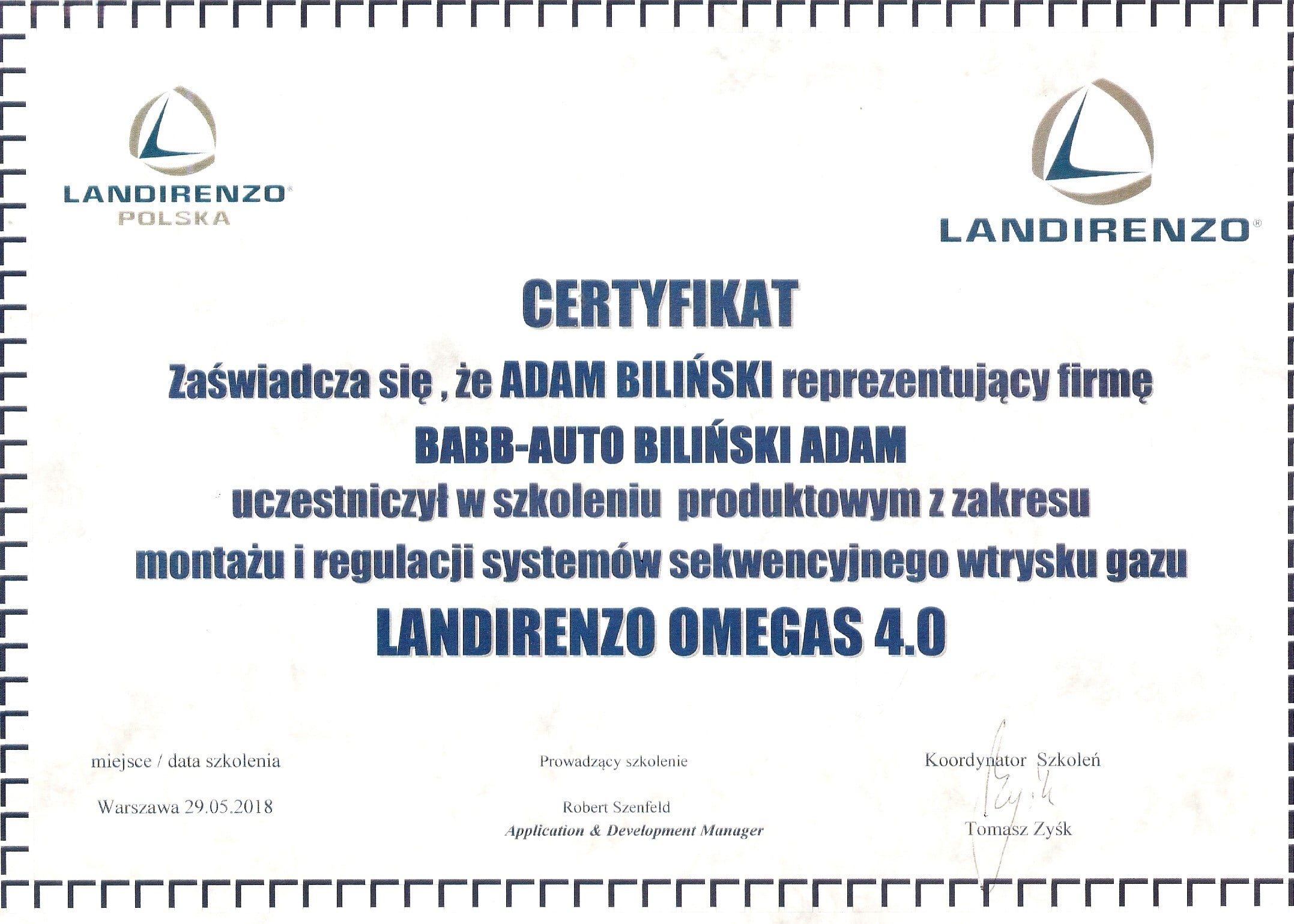 montaż i regulacja systemów sekwencyjnego wtrysku gazu Landi Renzo Omegas 4.0