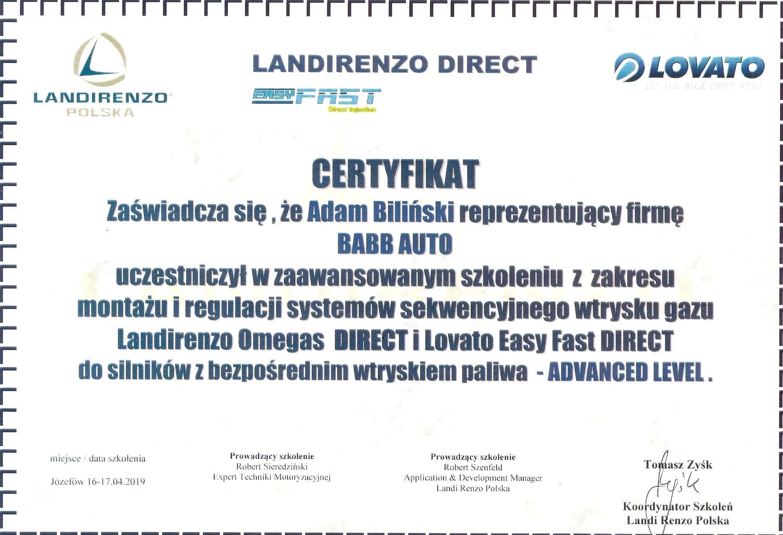 montaż i regulacja systemów sekwencyjnego wtrysku gaz Landi Renzo Omegas Direct i Lovato Easy Fast Direct