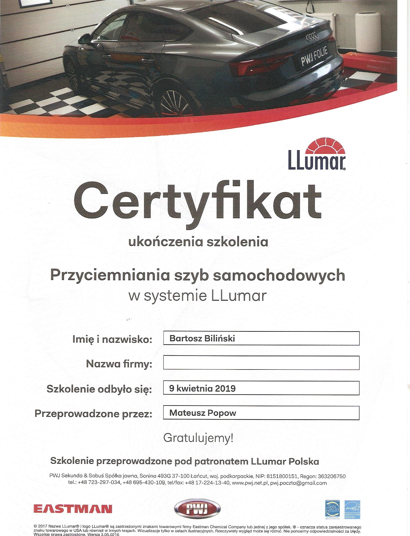Przyciemnianie szyb samochodowych w systemie LLumar