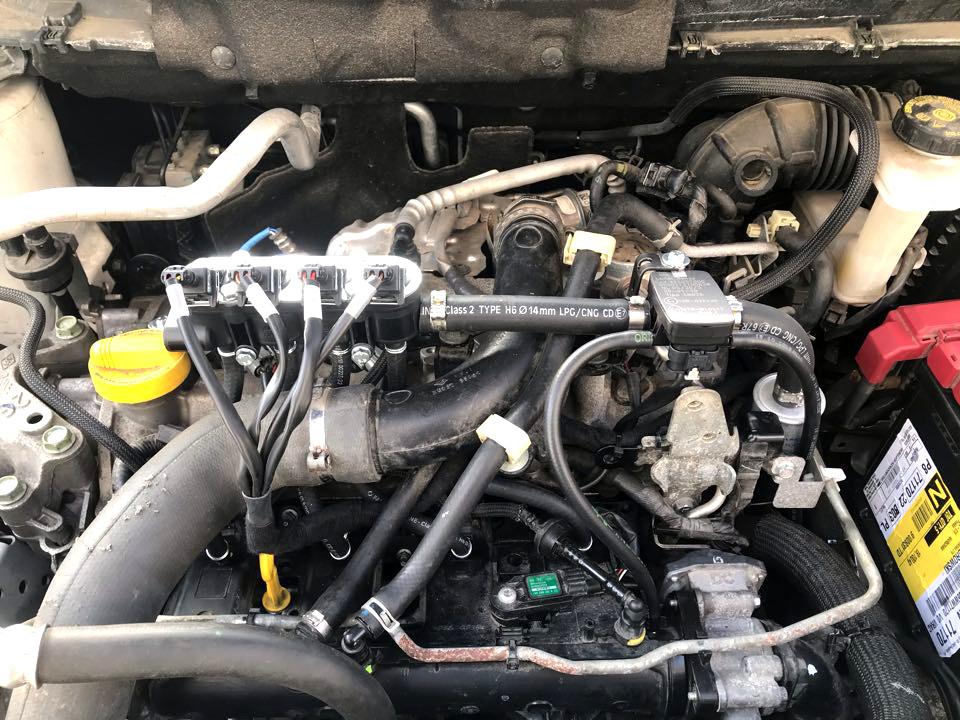 Instalacja gazowa LPG LandiRenzo Omegas Direct zamontowana w Nissan Qashqai 1.2 2017