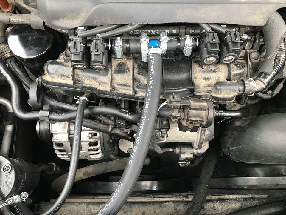 Listwa wtryskowa DP zamontowana w VW Passat 1.8 TSI